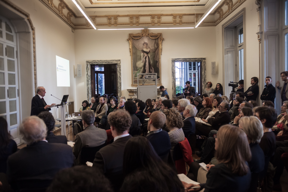 """Foto 12/04/2013 - Tullio De Mauro, """"La lezione di Sasussure"""" - ISR"""